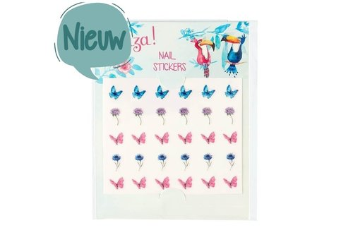 Souza! Souza! Nail stickers Flowers and Butterflies