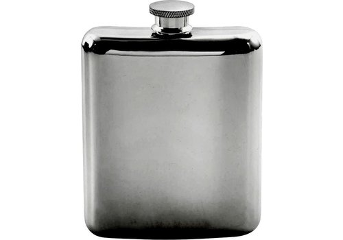Point-Virgule Point Virgule Hip Flask Stainless Steel Metallic Black 175 ml