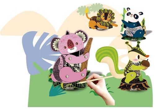 Avenir Avenir Scratch Marionetten maken Bosdieren