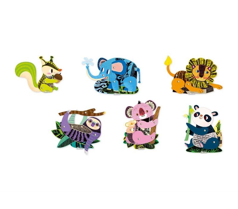 Avenir Scratch Marionet Forest Animals