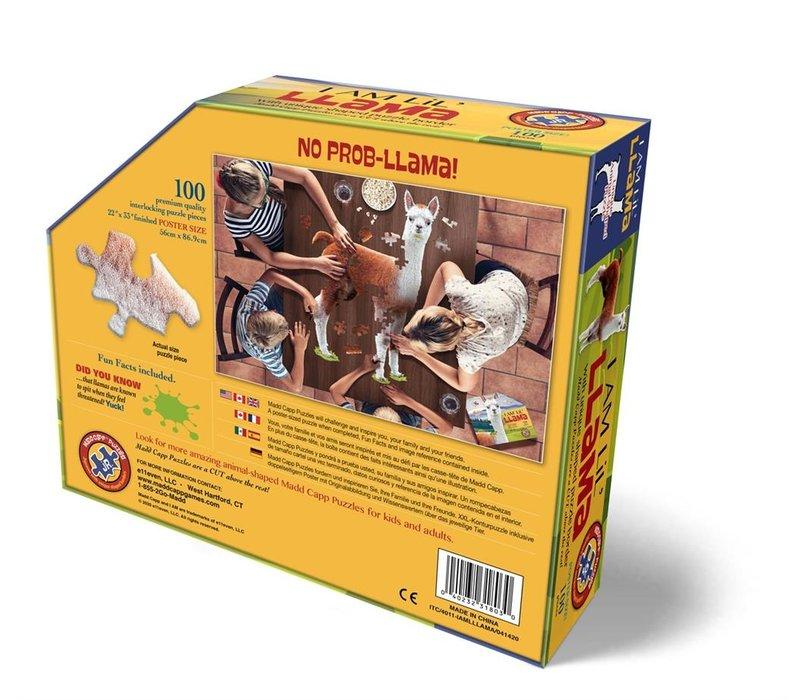 Madd Capp Jigsaw Puzzle I Am Lil Llama 100 Pieces