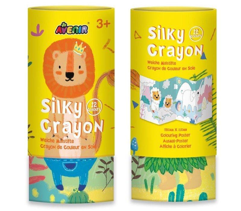 Avenir Silky Crayon 12 Colours Lion