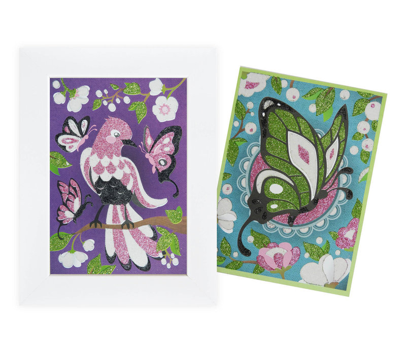 Buki Picture Boards Sparkles Assorted Unicorn, Fairy or Bird & Butterflies