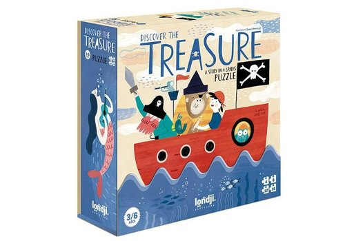 Londji Londji Set of 4 Puzzles Discover the Treasure 4, 8, 12, 16 pieces