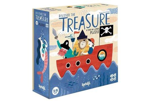 Londji Londji Set van 4 Puzzels Discover the Treasure 4, 8, 12, 16 stuks