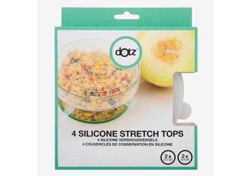 Dotz Dotz Set of 4 Silicone Reusable Stretch Tops 2 x 11 cm 2 x 14 cm