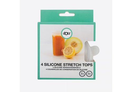 Dotz Dotz Set of 4 Silicone Reusable Stretch Tops 2 x 6,5 cm + 2 x 9 cm