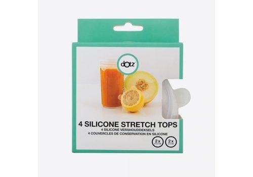 Dotz Dotz Set van 4 Silicone Herbruikbare Vershouddeksels 2 x 6,5 cm + 2 x 9 cm