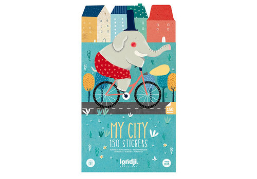 Londji Londji Activities My City with 150 Removable Stickers