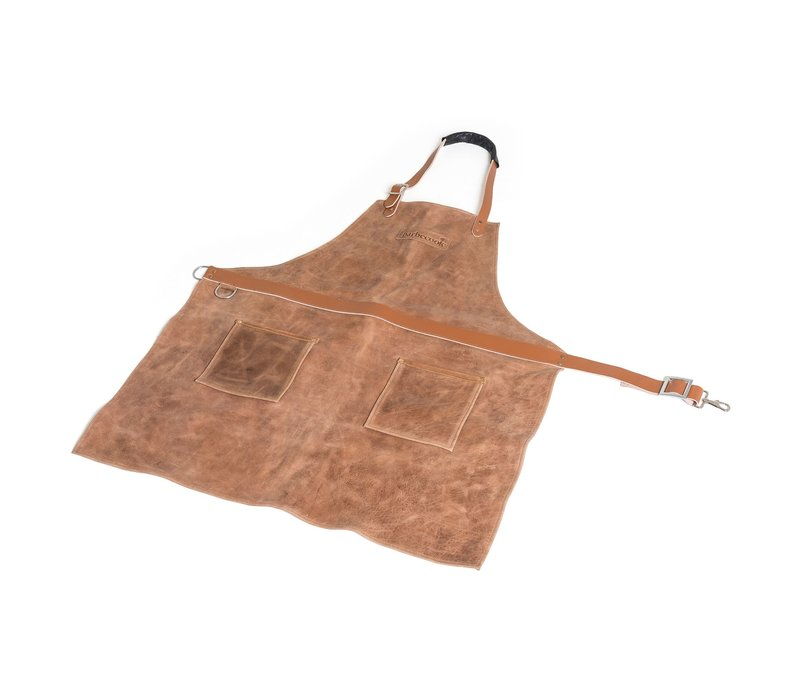 Barbecook Leather Apron Brown 76 x 85 cm