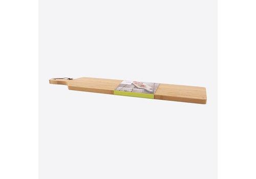Point-Virgule Point-Virgule Bamboe Serveerplank met Ring en Lederen Koord 75 cm