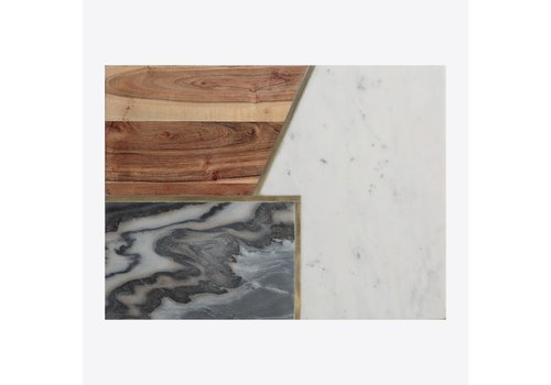 Typhoon Typhoon Elements Serving Board from Acacia Wood, Marble and Stone 39,5 cm