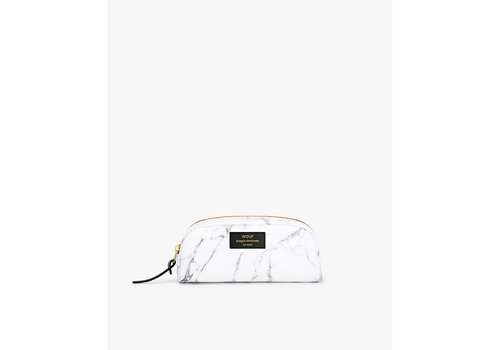 Wouf Wouf Beauty Bag Small White Marble