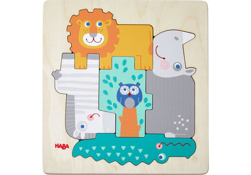 Haba Haba Wooden Puzzle Animals in The Wild