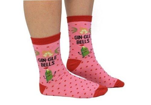 Odd Socks ODD Socks Dames Xmas Sokken Gin-Gle Bells maat 37-42