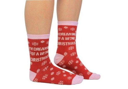 Odd Socks ODD Socks Lady Xmas Socks Dreaming of a Wine Xmas size 37-42