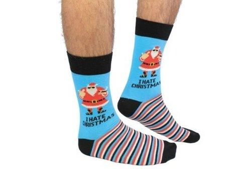 Odd Socks ODD Socks Men Xmas Socks  I Hate Xmas Size 39-46