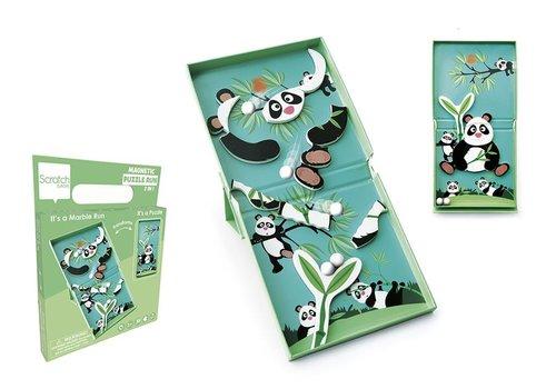 Scratch Scratch Magnetic Puzzle Run Panda 11pc