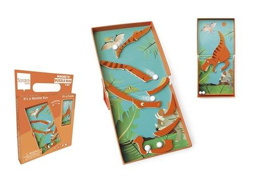 Scratch Scratch Magnetic Puzzle Run Dino 11pc