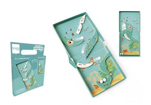 Scratch Scratch Magnetische Puzzel Run Walvis 9 st