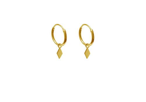 Label Kiki Label Kiki Earrings Square Hoop Gold