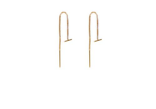 Label Kiki Label Kiki Earrings Gold Bar Chain
