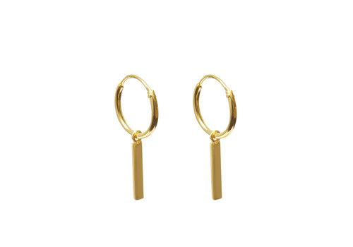 Label Kiki Label Kiki Earrings Gold Bar Hoops