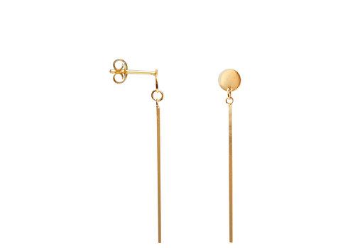 Label Kiki Label Kiki Earrings Gold Bar Clapper