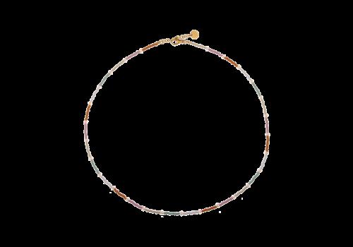 Label Kiki Label Kiki Necklace Rainbow Pearl Gold