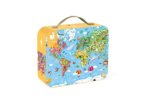 Janod Janod Giant Puzzle World Map 300 pcs