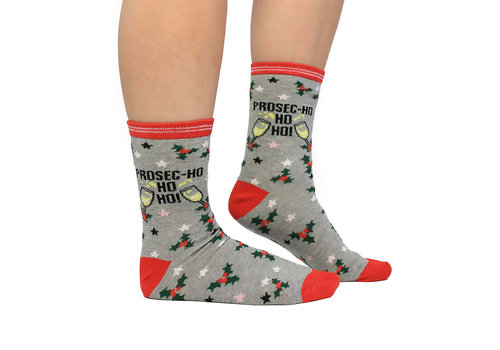 Odd Socks ODD Socks Dames Xmas Sokken Prosec-Ho-Ho-Ho  Maat 37-42