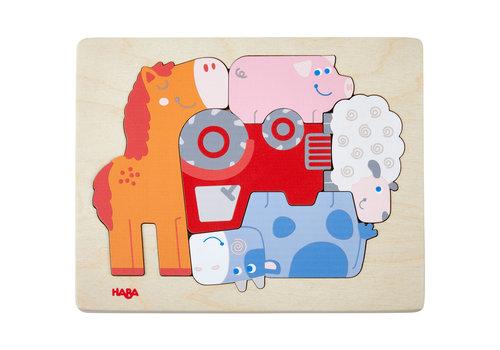 Haba Haba Wooden Puzzle Animal Shuffle 5 st