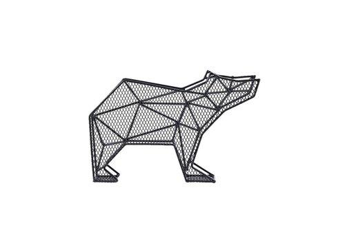 Kikkerland Kikkerland Letter Organizer Bear for Wall and Desk