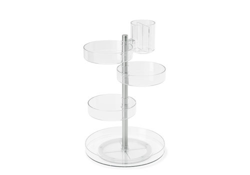 Umbra Umbra Pirouette Cosmetic Organizer Clear/Nickel