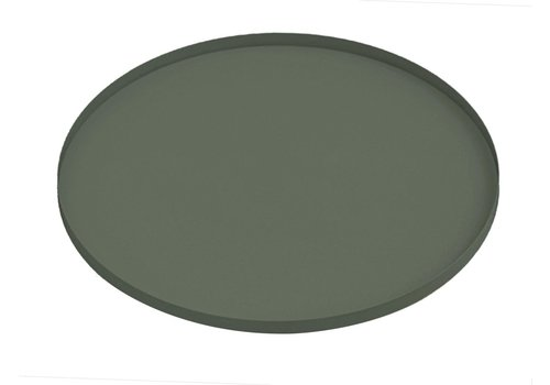 Present Time Present Time Tray Round Iron Jungle Green