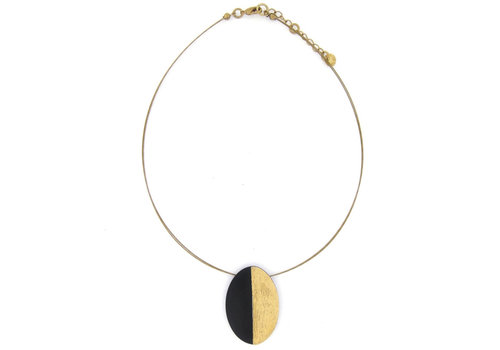 Culture Mix Culture Mix Necklace Oval Black/Gold