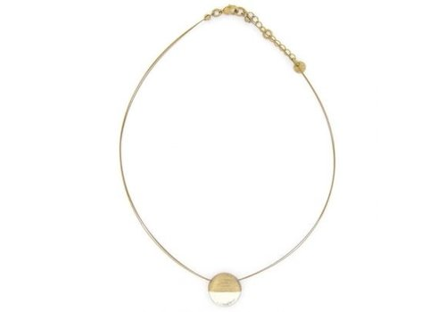 Culture Mix Culture Mix Necklace Round Pearl/Gold