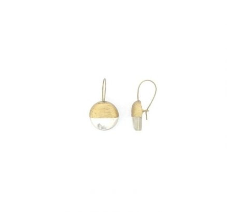 Culture Mix Earrings Round Pearl/Gold
