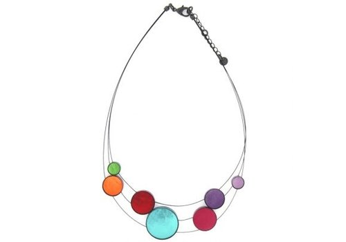 Culture Mix Culture Mix Necklace in Shell in Resin Multicolor