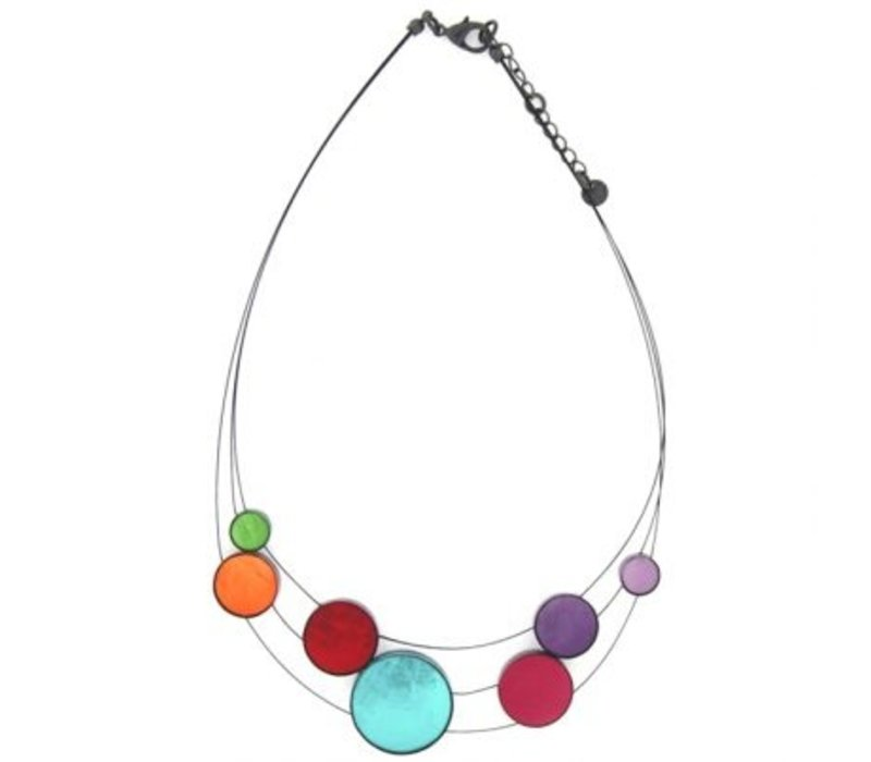 Culture Mix Necklace in Shell in Resin Multicolor