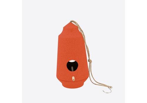 Point-Virgule Point-Virgule Vogelhuisje Bamboevezel Oranje Ø 15 cm H 28 cm