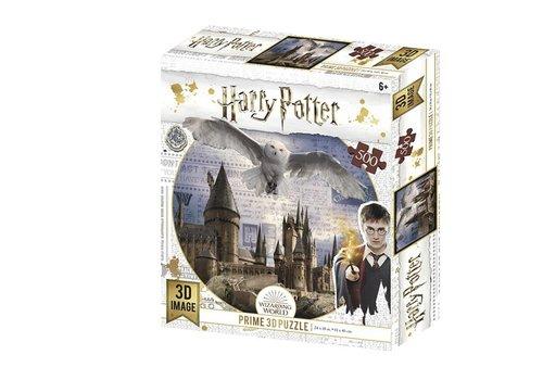 Prime3D Prime 3D Puzzle Harry Potter Hogwarts & Hedwig 500 pcs