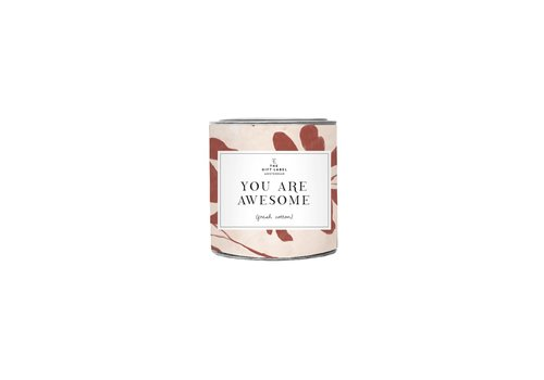 The Gift Label The Gift Label Geurkaars in Blik You are Awesome 90 g