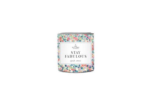 The Gift Label The Gift Label Geurkaars in Blik  Stay Fabulous 90 g