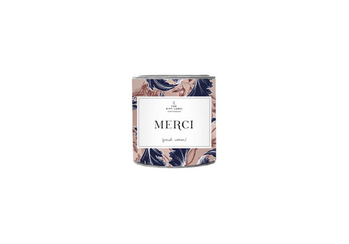 The Gift Label The Gift Label Geurkaars in Blik Merci 90 g