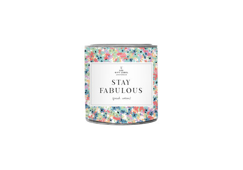 The Gift Label The Gift Label Geurkaars in Blik Stay Fabulous 310 g