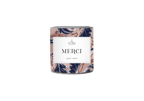 The Gift Label The Gift Label Geurkaars in Blik Merci 310 g