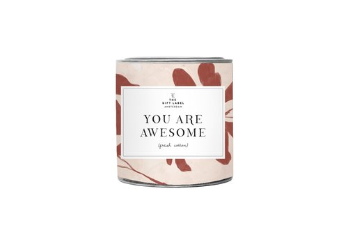 The Gift Label The Gift Label Geurkaars in Blik  You Are Awesome 310 g