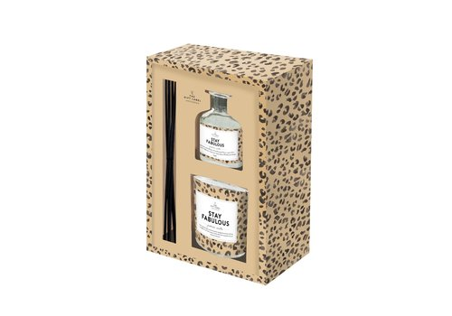 The Gift Label The Gift Label Gift Box Kaars en Geurstokken Houder Stay Fabulous