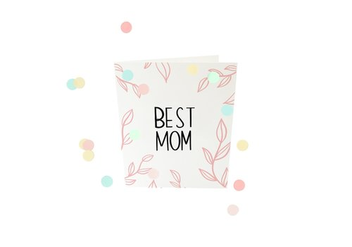 The Gift Label The Gift Label Confetti Wenskaart Best Mom